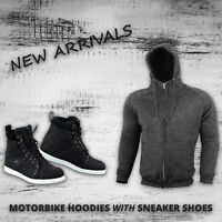 Motorcycle Armored Hoodie Jacket Waterproof Motorbike Leather Shoes Touring Boot
