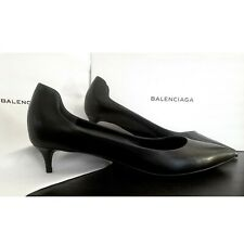 BALENCIAGA leather pointed kitten heels NEW