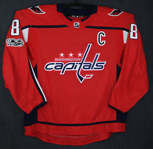 Alex Ovechkin Washington Capitals MIC Adidas 58 Authentic Hockey Jersey NHL Game