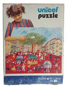 "Rare Vintage UNICEF Jigsaw Puzzle ""Festival In Orange"", (Code 700F) 1980th"
