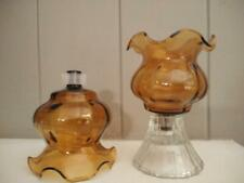 Home Interiors Homco Gold Amber Fluted Votive Cup with Grommets - Set of Two