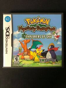 Pokemon Mystery Dungeon: Explorers of Sky (DS, 2009) Complete