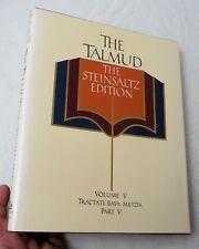 The Talmud The Steinsaltz Edition Vol V Tractate Bava Metzia Pt V, HBw/dj VG+