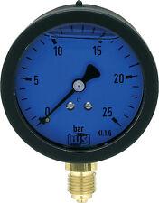 """Öldruckmanometer 63 mm  ¼"""" radial mit Glyzerinfüllung Manometer Ölpumpe"""