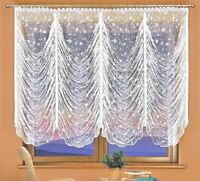 New White Shabby Chic Jardiniere Net Curtain Pleat Tape Curtains Ready Made