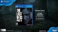 THE LAST OF US PART II PS4 PLAYSTATION 4 PRE ORDER BONUS DLC CODE NO DISC