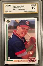 1991 Upper Deck Final Edition Jim Thome Cleveland Indians #17F GEM MINT 10