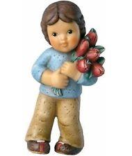 Goebel Nina & Marco Happy Valentine's Day NIB #465033 Boy holding Flowers NEW