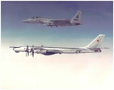 F-15 Escorting RUSSIAN BEAR BOMBER 16X20 Photo - AIR FORCES ICELAND Keflavik NAS