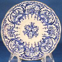 Coalport Bone China Saucer (5012A) - Blue Flowers, Baskets & Scrolls - England