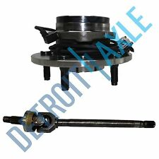 Dodge Ram 1500 Left Axle Shaft 2000 -2001 U JOINT + Wheel Bearing hub w/ ABS 4X4