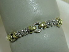 Designer LAGOS S/S 6MM Triple Diamond Pave' Circle Rope Bracelet