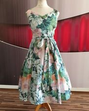 "GORGEOUS PHASE EIGHT ""EDEN"" FLORAL PRINT FIT AND FLARE EVENING DRESS SIZE 16"