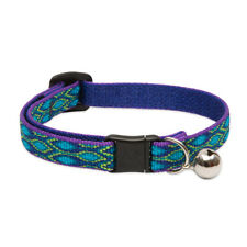 Lupine Cat Collar 12mm Wide With Bell and Safety Release Buckle Asst Patterns Rain Song