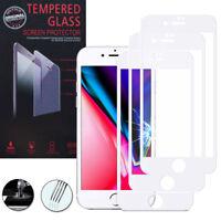 """3 Films Verre Trempe Protecteur Protection BLANC pour Apple iPhone 8 Plus 5.5"""""""