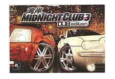 Rockstar Games Midnight Club 3 Dub Edition Postcard rare promo