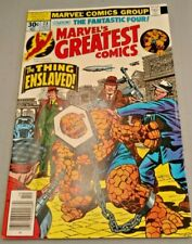Marvel Bronze Age Comic Book - 1977 - MARVELS GREATEST COMICS/FANTASTIC FOUR