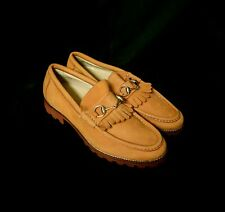 Gucci Suede Leather Princetown Fringe Loafers Mules Slip On 10 Horsebit 1953