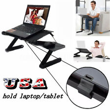 Foldable & Height Adjustable Laptop Desk Cart Over Bed Sofa Writing Table Stand
