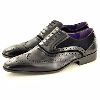New Men's Casual Formal Lace Up wingtip Brogue Fashion Shoes In UK Sizes 6-11
