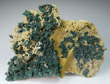 Malachite after AZURITE crystals on a Dolomite cast * Tsumeb Mine * Namibia