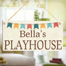 Playhouse - Super Cute Children's Kids Personalised Play House Wooden Sign Gift
