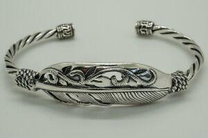 Feather 925 silver bangle torc biker pagan viking ragnar oath norse nordic angel