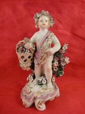 Derby Four Seasons Figure Of Putti Emblematic Of Spring 18th Century England