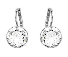 Swarovski 5085608 Bella Earrings Rhodium Plt length 1.5cm Crystal 1.1cm RRP $89