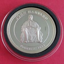 HARVARD UNIVERSITY SILVER PROOF 1 OUNCE .999 FINE SILVER PROOF ROUND