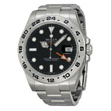 Rolex Explorer II Black Automatic Steel Mens Watch 216570BKSO