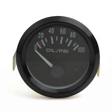 2Inch 52mm 12V Car Oil Pressure Gauge 0-100 PSI Auto Oil Press Gauge Meter LED