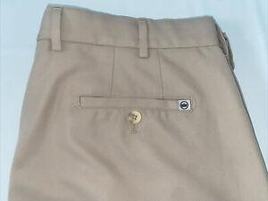 Mens Peter Millar Crown Logo Summer Comfort Size 36 Tan Golf Shorts Perfect Comd