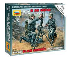 Zvezda 1/72 figuras alemán mortero con Crew 1939-42 Z6111 81mm