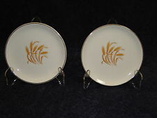 Homer Laughlin Golden Wheat Bread Plates TWO Plates EXCELLENT!