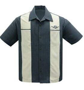 Steady Clothing Classic Cruising Rockabilly Bowling Button Down Shirt ST35300-C
