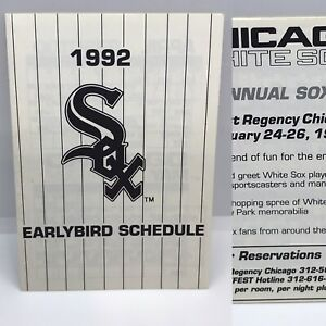 1992 Chicago White Sox Baseball Pocket Early Bird Schedule