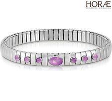 Bracciale donna Nomination Xte 043321/002 argento acciaio giada viola pietre