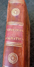 ANTIQUE LEATHER BINDING BOOK THEOLOGIA DOGMATICA ET MORALIS