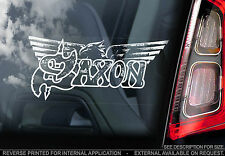 Saxon - Car Window Sticker - Heavy Metal Rock Music Sign Art