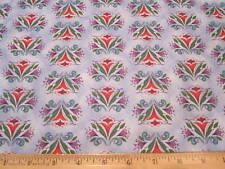 Jim Shore Animal Parade Floral Print Cotton Fabric Blue