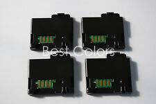 4 x Toner Chip + Chip Cover For Xerox Phaser 6010 6000 6015 106R01631 -106R01634
