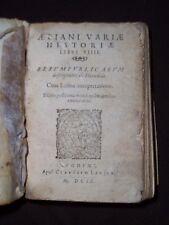 Aeliani variae historiae libri XIIII - Rerumpublicarum descriptions ex Heraclide