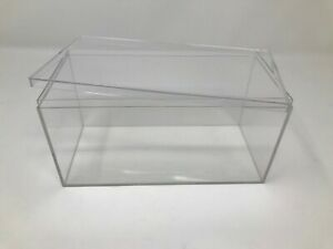 """Clear Acrylic Display Case/Box. New. 4"""" x 8"""" x 4""""  Sold from USA"""