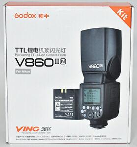 Godox VING V860II-N TTL Li-ion Flash Kit for Nikon Cameras