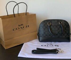 Pre-owned Coach Mini Sierra Satchel Handbag Black