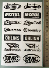 Sponsor Decals Stickers for Aprilia RSV4 / Tuono Swingarm (Total of 14 stickers)