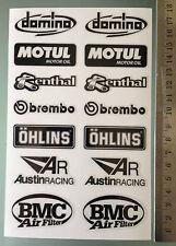 Sponsor Decals Stickers for Aprilia RSV4 / Tuono Swingarm (Total of 14 stickers)