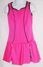 Curtain Call Costume Size CME Hot Pink & Black  Dance Dress w/Shorts / Costume