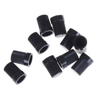 10 Pcs Black Plastic Potentiometer Rotary Control Knobs Caps for 6mm Dia ShaftSO